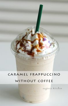 How to Make Caramel Frappuccino without Coffee – McDonalds YUM! More from my siteHow To Make Iced Coffee at HomeIced Caramel Pumpkin MacchiatoStarbucks Iced Caramel Macchiato Copycat Starbucks Drinks Without Coffee, Starbucks Frappe Recipe, Caramel Frappe Recipe, Starbucks Caramel Frappuccino, Secret Starbucks Recipes, Coffee Frappuccino, Homemade Frappuccino, Easy Frappuccino Recipe Without Coffee, Coffee Drinks