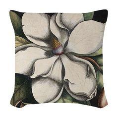 Art Deco Magnolia Woven Throw Pillow on CafePress.com