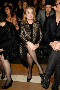 Catherine Deneuve at Lanvin | Fall 2014 Ready-to-Wear Collection | Style.com