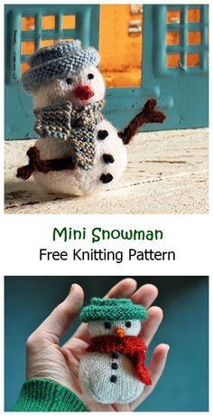 Mini Snowman Free Knitting Pattern – Knitting Projects