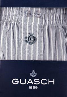 Boxer tela guasch rayitas gris - ref: BS141 D450 - Boxer de tela algodón popelín, en rayas blancas sobre fondo gris - 100% algodón. #calzoncillos #hombre #modahombre #ropainterior http://www.varelaintimo.com/marca/9/guash