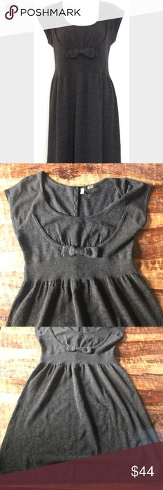 "Moth Sweater Dress Super cute light weight wool blend sweater dress. In excellent condition. Bow in the front and colorful buttons in the back. Chest is 17"" across laying flat, waist is 15"" across, length is 40"". Anthropologie Dresses"
