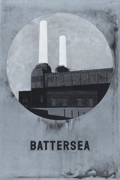 Even Hecox - Battersea Power Station, where my grandfather worked. Also from the cover of Pink Floyd's Animal album. Pink Floyd, Art Deco Stil, Battersea Power Station, Architecture Drawings, Architecture Design, London Underground, Vintage Posters, Contemporary Art, Illustration Art