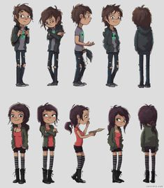 boy and girl 360 views by Zac Retz Character Design Teen, Character Design Challenge, Character Model Sheet, Boy Character, Character Modeling, Character Design References, Character Drawing, Character Design Inspiration, Character Illustration