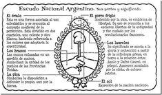 Escudo nacional argentino para colorear, 12 de marzo | Colorear