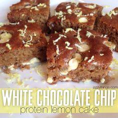 White Chocolate Chip Protein Lemon Cake