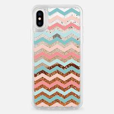 Casetify iPhone X Liquid Glitter Case - Chevron Pattern by Priyanka Chanda