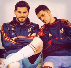 Iker Casillas and David Villa (Spain National Football team)