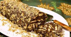 κορμός σοκολάτας: μωσαϊκό με μπισκότα ή γλυκό σαλάμι - Pandespani.com Chocolate Log, My Dessert, Cake Cookies, Meatloaf, Banana Bread, Recipies, Deserts, Food And Drink, Sweets