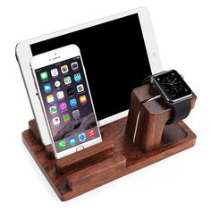 Apple Watch Stand, Aerb Rosewood Charge Dock Holder for Apple Watch &…