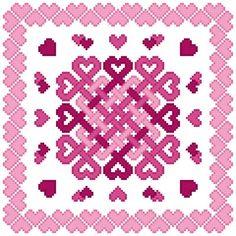 Love Knots cross stitch pattern.