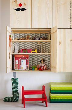Spectacle de marionnettes ! Armoire IVAR #IKEA #chambredenfants
