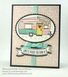 Glamper Greetings swap card shared by Dawn Olchefske #dostamping (Dawn Thomas)