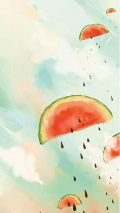 Retro Wallpaper Iphone, Phone Backgrounds, Cute Wallpapers, Just For You, Watercolor, Cartoon, Fruit, Cool Stuff, Ios 11