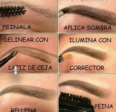 Step Maquillaje, Maquillaje Cejas, Maquillaje Trucos, Maquillaje Ideas, Redonda … - Marble Tutorial and Ideas How To Do Eyebrows, Perfect Eyebrows, Eyebrow Makeup Tips, Hair Makeup, Makeup Eyebrows, Love Makeup, Makeup Looks, Makeup Ideas, Eyebrows Step By Step