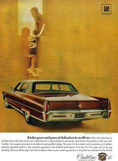 1970 Cadillac Ad #Cadillac #Seventies #Vintage