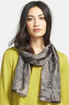 Eileen Fisher Print Silk Scarf available at #Nordstrom