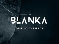 Blanka is a display sans serif typeface with special style that include cuts at different parts of letters. Elegant font for posters and headings.