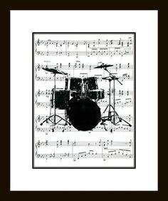 Drum Set Music Art Print Drums Art Print by CharlottesArtShop Music Wall Art, Music Decor, Drum Set Music, Drums Art, Drum Lessons, Drummer Boy, Drum Kits, Music Stuff, Music Lovers