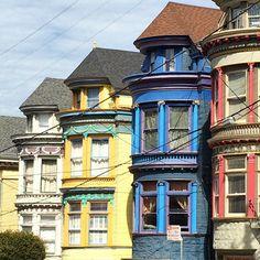 Victorian beauties.... #victorian #sanfrancisco #architecture #interiordesign #interiordecor #decor72travels #color #design #decor #california
