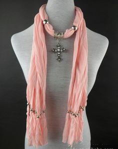 Cross Pendant Necklace Scarf Wholesale Canada Scarf Promotion Season on www.jewelryscarfcanada.com
