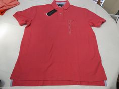 Mens Tommy Hilfiger Polo shirt XXL xxlarge solid NEW 7848710 Carmine 297 pink #TommyHilfiger #polo