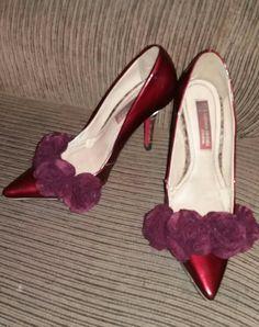 Sapato personalizado com feltro por mim e Damaris Schabuder