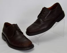 Cole Haan City Waterproof Men's 8.5 M Solid Brown Leather Lace Up Oxfords #ColeHaan #Oxfords