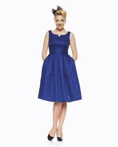 'Felicia' Blue Swing Dress