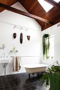 Ways to create an eco-bathroom. Photography by Michael Wee. Styling by Vanessa…