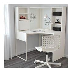 MICKE Corner workstation, white white 39 for dressing room desk in bedroom MICKE Corner workstation - white - IKEA Home Office Design, Home Office Decor, Home Decor, Office Style, Home Design, Corner Workstation, Ikea Corner Desk, Ikea Desk, Small Corner Desk