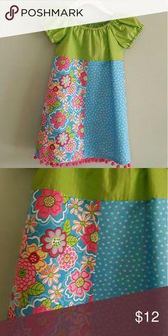 NWOT Handmade peasant dress size 4 100% seersucker cotton Dress length 22 in around chest 26 in. handmade Dresses Casual
