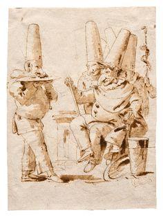 Giambattista Tiepolo - Omaggio a Pulcinella incoronato, Trieste, Civico Museo Sartorio