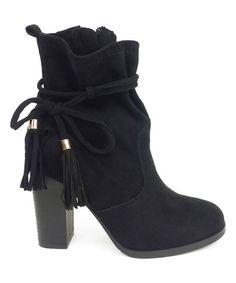 Black Tassel Jessie Ankle Boot