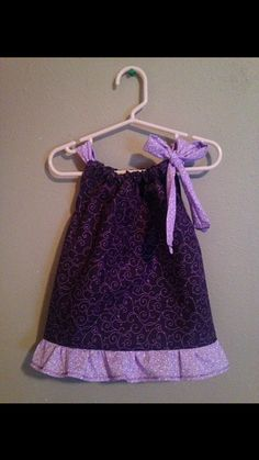 Pillow Case Dress  Size: 6 months  Dark by Sewn4ACause on Etsy