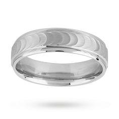 F.Hinds Titanium Matt Finish Double Groove Ring 6mm Wedding Jewelry Men Gift