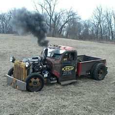Dually Rat Truck w/ Diesel power, love the genuine Cat. Radiator w/semi f-bumper!