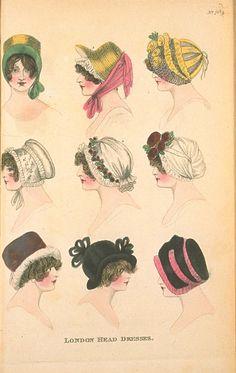 Head Dresses, December 1803, Fashions of London & Paris