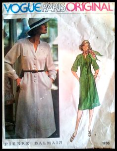 Vogue Paris Original Pierre Balmain   Misses' by ThePatternShopp, $25.00