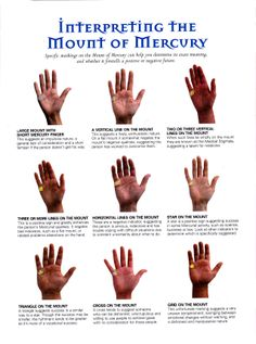 Divination: #Palmistry ~ Interpreting the Mount of Mercury.