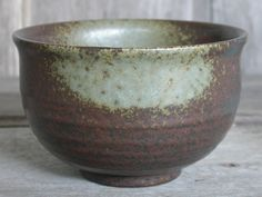 Brown Rice Bowl Large Soup Bowl Hand thrown Pottery by Singhato