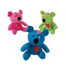 Plush Zombie Bears - OrientalTrading.com