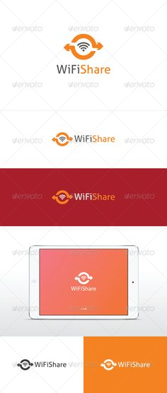 PSD Wifi Share Logo  Template • Only available here ➝ http://graphicriver.net/item/wifi-share-logo/3509172?ref=pxcr