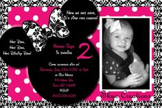 Custom Pink Damask Minnie Mouse Thank you cards or by SkyeCreation, $10.00