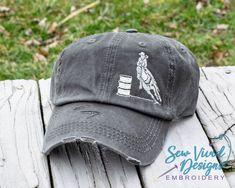 0fbd132b Barrel racing baseball cap, high ponytail cap options available- messy bun  hat