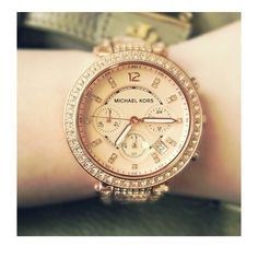 Michael Kors Parker Rose Gold Crystal Watch Worn a few times. No scratches/damages. Comes with the original box and links. Retail: $375+tax. Michael Kors Accessories Watches