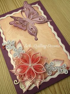 Quilling Images, Paper Quilling Cards, Paper Quilling Patterns, Quilling Craft, Quilling Flowers, Quilling Designs, Quilling Ideas, Diy And Crafts, Arts And Crafts