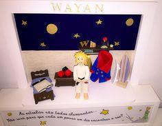 Quadro Porta de Maternidade Pequeno Príncipe   Quarto do Wayan: https://ateliermanuoliveira.wordpress.com/2015/03/13/wayan-um-pequeno-principe/