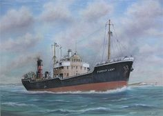 MV Pompey Light built in 1949 and initially used by the Portsmouth Corporation taken over in the same year by the British Electricity Authority 1954 Central Electricity Authority 1958 Central Electricity Generating Board Broken up at Antwerp 10/1968  by JONATHAN MARGETTS Aviation & Marine Artist