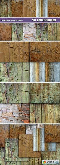 10 WOOD WALL TEXTURE BACKDROPS  stock images